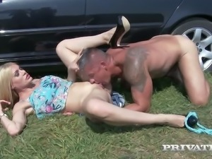 Kitana Lure gives a great BJ and she loves having her ass fingered