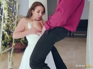 Busty bride attacked by a randy man who craves her curves