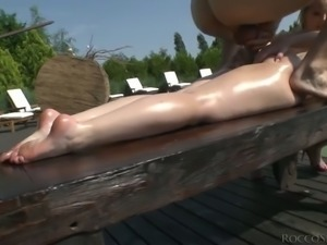 Angell Summers asks her friend to join her for a threesome with Rocco