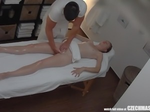 Super Slim Girl Getting Massage of Her Life