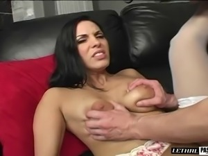 Cougar masturbating then awarded with anal ravishing hardcore