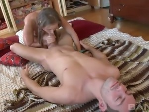 Fuck hungry pigtailed coed Kate adores getting her twat polished in various...