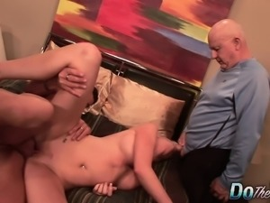 Big breasted blonde housewife gets nailed deep and takes a huge facial