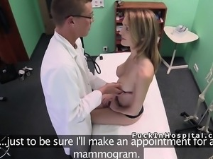 Big cock doctor examines patients cunt in fake hospital