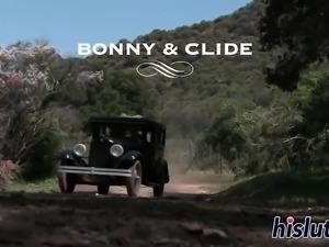 Two classy harlots share a massive boner