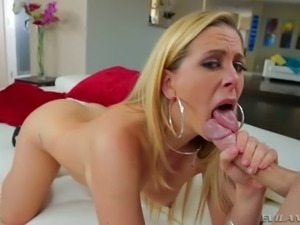 Hot blonde Cherie DeVille loves big cocks and tight dresses