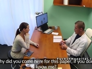 Hot Euro patient rimming and fucking doctor