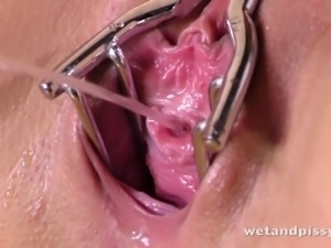 Vanessa rubs oil on her great tits and fucks herself with a toy
