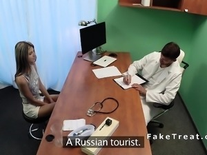 Fake doctor with big cock fucks slim blonde