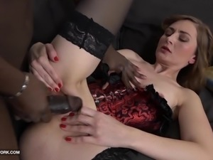 Milf anal sex with black guy screaming in pleasure from his bbc