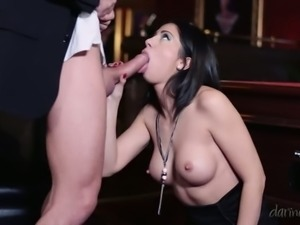 After losing a game Julia de Lucia is totally focused on having hot sex