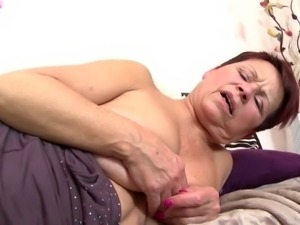 Dirty grandma suck and fuck young boy