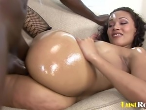 Fishnets on hot Cassidy who loves black cock