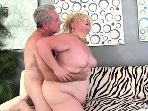 Plump nympho has a raging stick making her tight pussy wet and happy
