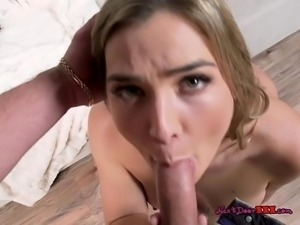 Blondie Blair Williams Treats Morning Wood Of BF