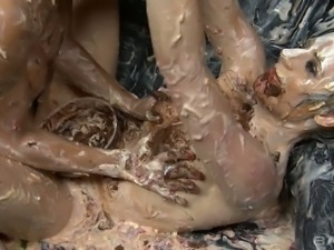Messy and dirty Brethany in provocative lesbian sex video