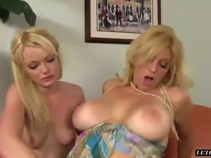 Stunning busty MILF Charlee Chase fights with sexy kinky GF for meaty cock