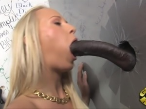 Nice Carla Cox sucks a gigantic black dick in a toilet