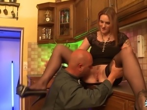 Two repairmen want to have some fun with a horny housewife