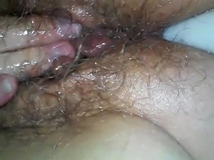 Wife taking a Vibrator up the Ass while Masturbating