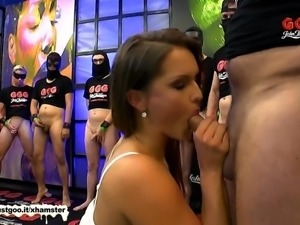 Stunning MILF Barbara gets gangbanged - German Goo Girls
