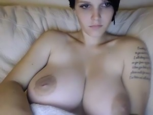 Nice tattooed sexy babe did nothing but flashed her perfect big tits