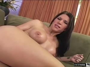 Cougar with big tits giving cock titjob then banged hardcore