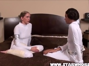 Star Wars Foot Worship With Two Hot Chicks At Home