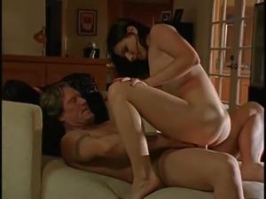Tattooed brunette pornstar seductively bending over getting smashed hardcore