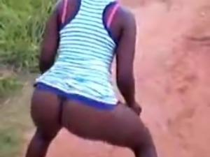 Savage african Ass from the jungle