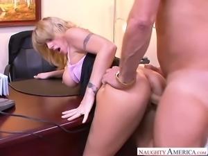 Big boobed secretary Velicity Von is having some steamy sex at work