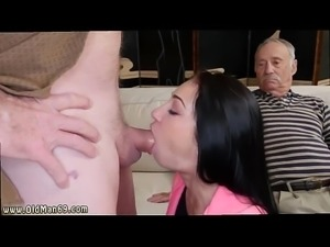 Creampie old fat granny and old man threesome creampie Dukke the