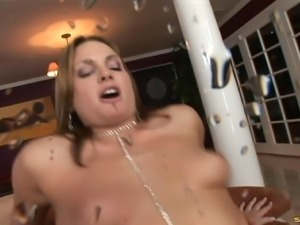 Big ass ebony anal throbbed hardcore in interracial porn
