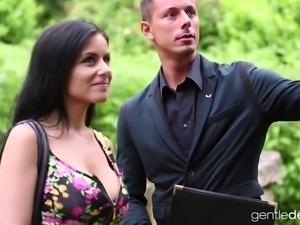 Stunning Czech brunette in the wild