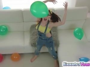 Playful teen Kandi Quinn love to fuck a huge dick