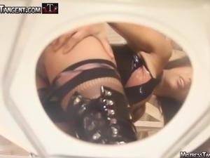 Mistress Tangent femdom toilet humiliation male slavery
