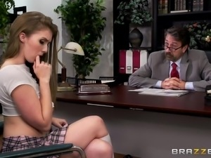 Looks like naughty Lena has real problems with studying and grades, and the...