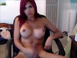 Shemale Redhead&#039_s Satisfying Orgasm