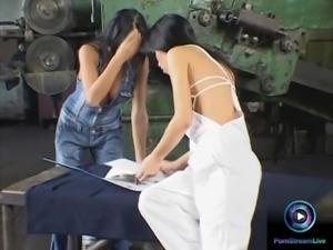 Horny Christina Bella and Mya Diamond dildoing