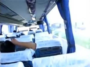 Couple sex in the bus
