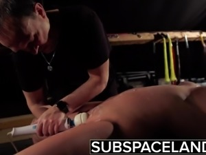 BDSM Teen in submission gets hardcore fucked and swallows