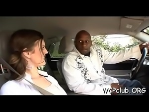 Black guy bangs white beauty