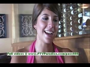 FTV Girls FTV Melina superb brunette teenage public flashing tits