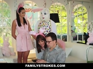 FamilyStrokes- Hot Teen Fucked By Easter Bunny Uncle