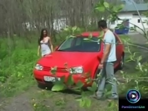 Christina Bella and Renato does a pit stop to fuck