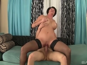 Hot cougar Shey Fox is still desirable and she loves to fuck young men