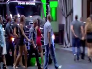 Amateur swingers watching sexy lap dance show