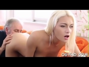 Young honey blows old cock