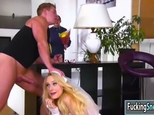 Angel Wicky a bride in the box gets fucked hardcore