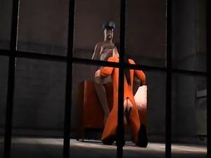 3D cartoon prisoner gets fucked in the ass by a fat ebony cop